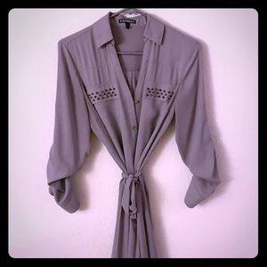 Express Portofino Grey Mini Dress sz S